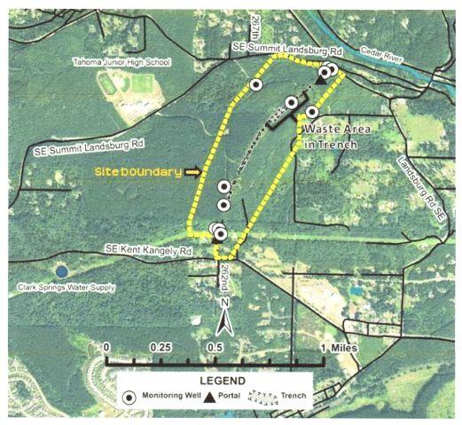 Landsburg Mine Site - Location Map